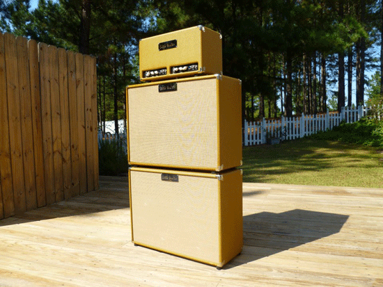 "image for Twin 50 with two 4x10""; Cabinets basking in the NC sun"